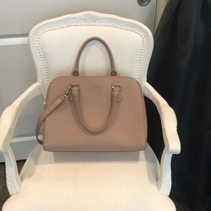 New Furla Elena saffiano satchel in blush